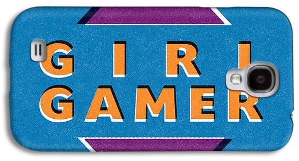 Girl Gamer Galaxy S4 Case by Linda Woods