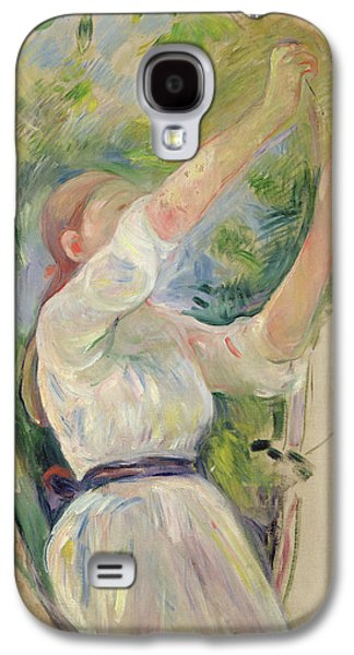 Girl Gathering Cherries Galaxy S4 Case by Berthe Morisot
