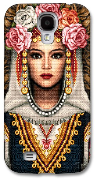 Girl Tapestries - Textiles Galaxy S4 Cases - Girl in Bulgarian national costume Galaxy S4 Case by Stoyanka Ivanova