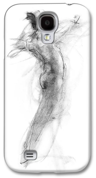 Abstract Landscape Drawings Galaxy S4 Cases - Girl in Movement Galaxy S4 Case by Christopher Williams