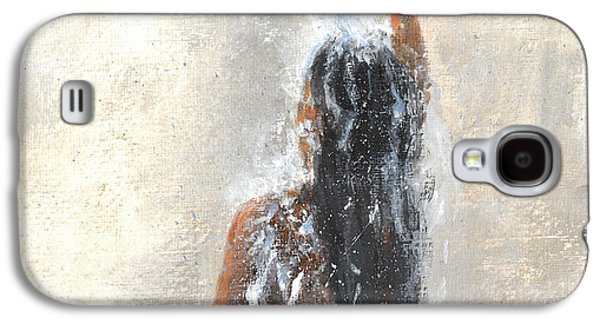 Hair-washing Galaxy S4 Cases - Girl Showering Galaxy S4 Case by Lincoln Seligman