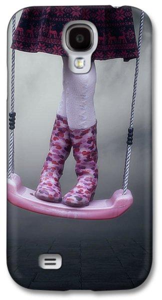 Girl Galaxy S4 Cases - Girl Swinging Galaxy S4 Case by Joana Kruse