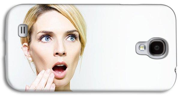 Chin Up Galaxy S4 Cases - Girl that heard shocking news Galaxy S4 Case by Ryan Jorgensen