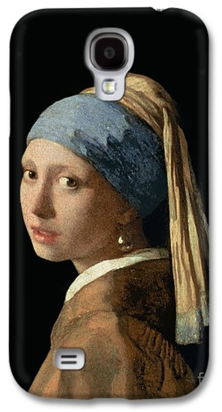 Canvas Galaxy S4 Cases - Girl with a Pearl Earring Galaxy S4 Case by Jan Vermeer