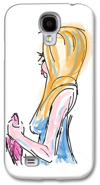 Girl With The Pink Purse Galaxy S4 Case by Robert Yaeger