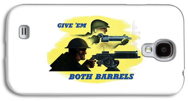 Machine Galaxy S4 Cases - Give Em Both Barrels Galaxy S4 Case by War Is Hell Store