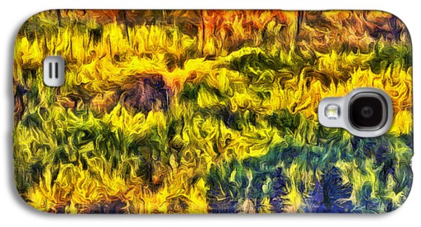 Abstract Digital Photographs Galaxy S4 Cases - Glacier Fall Abstract Galaxy S4 Case by Mark Kiver