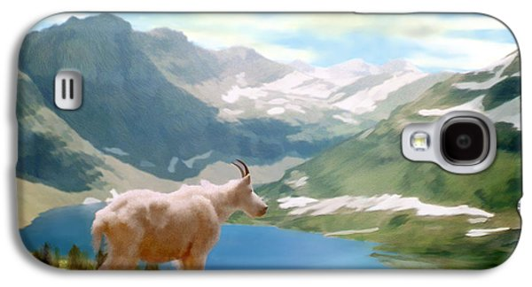 Goat Digital Art Galaxy S4 Cases - Glacier National Park Galaxy S4 Case by Kurt Van Wagner