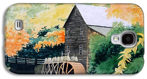 Grist Mill Paintings Galaxy S4 Cases - Glade Creek Galaxy S4 Case by Jim Gerkin