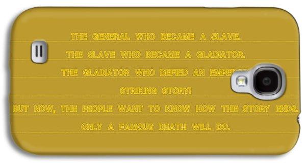 Slavery Galaxy S4 Cases - Gladiator Galaxy S4 Case by Gabriele Bracchi