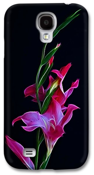 Indiana Flowers Galaxy S4 Cases - Gladiola Opening Galaxy S4 Case by Sandy Keeton