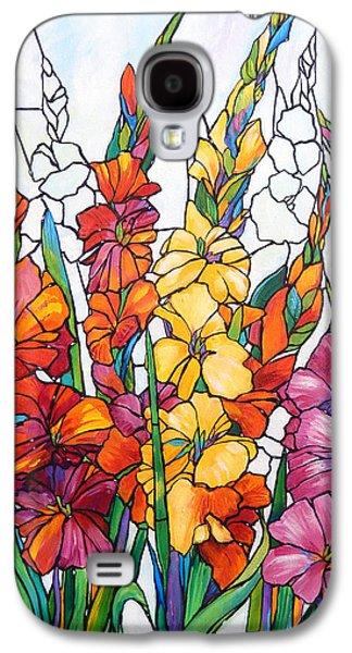 Gladiolas In Glass Galaxy S4 Case by Judi Krew