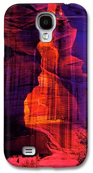 Landscapes Glass Art Galaxy S4 Cases - Glass Canyon Galaxy S4 Case by Mykel Davis