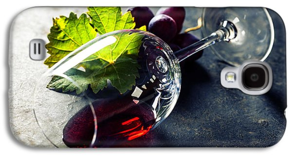Studio Photographs Galaxy S4 Cases - Glass of red wine Galaxy S4 Case by Natalia Klenova