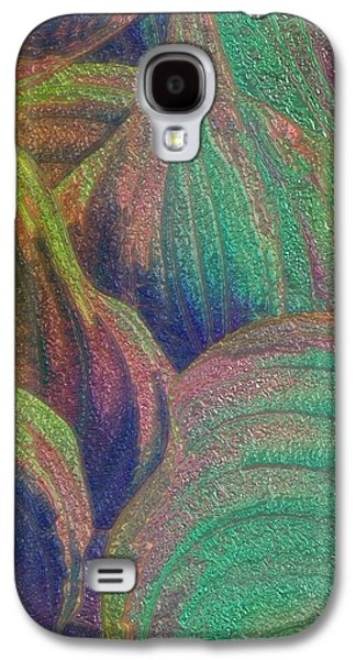 Abstract Digital Paintings Galaxy S4 Cases - Glassed Leaf Galaxy S4 Case by Jack Zulli