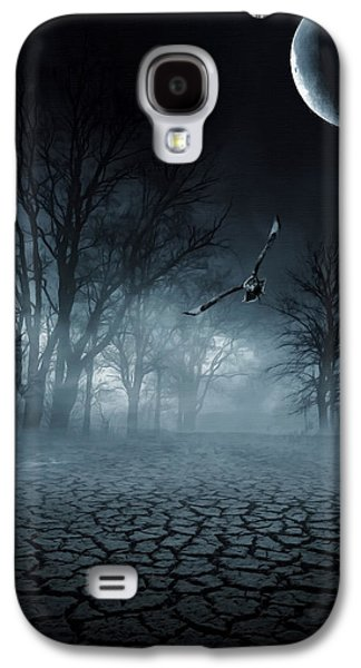 Sea Moon Full Moon Galaxy S4 Cases - Glaucus Galaxy S4 Case by Lourry Legarde