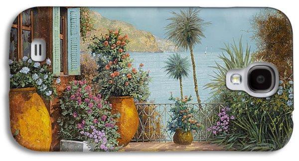 Vase Paintings Galaxy S4 Cases - Gli Otri Sul Terrazzo Galaxy S4 Case by Guido Borelli