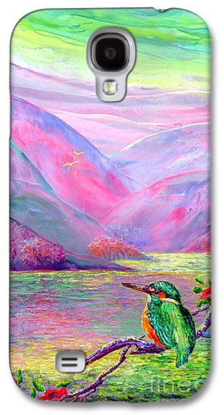 Abstract Nature Paintings Galaxy S4 Cases - Shimmering Streams Galaxy S4 Case by Jane Small