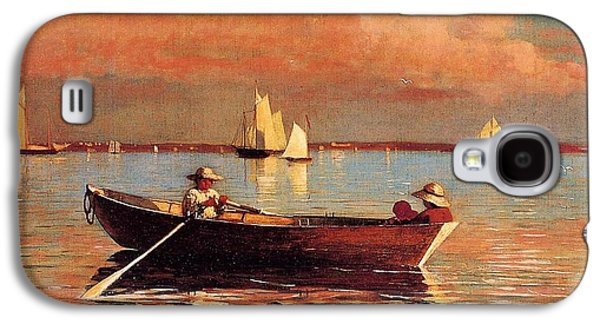 Row Boat Digital Galaxy S4 Cases - Gloucester Harbor Galaxy S4 Case by Winslow Homer