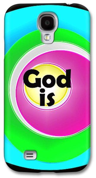 Quaker Digital Galaxy S4 Cases - God Is Galaxy S4 Case by John Vincent Palozzi