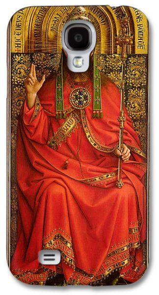 Blessings Paintings Galaxy S4 Cases - God the Father Galaxy S4 Case by Hubert and Jan Van Eyck