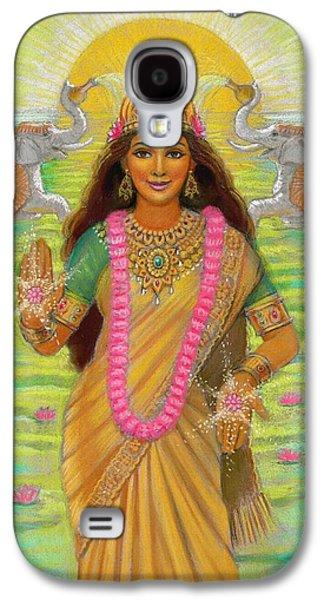 Goddess Paintings Galaxy S4 Cases - Goddess Lakshmi Galaxy S4 Case by Sue Halstenberg
