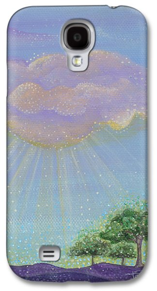 Sun Rays Paintings Galaxy S4 Cases - Gods Grace Galaxy S4 Case by Tanielle Childers