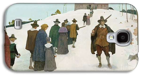 Going To Church Galaxy S4 Case by Newell Convers Wyeth