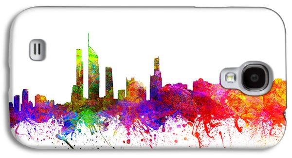 Australia Drawings Galaxy S4 Cases - Gold Coast Australia Cityscape 02 Galaxy S4 Case by Aged Pixel