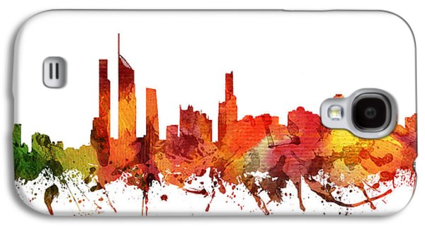 Australia Drawings Galaxy S4 Cases - Gold Coast Cityscape 04 Galaxy S4 Case by Aged Pixel