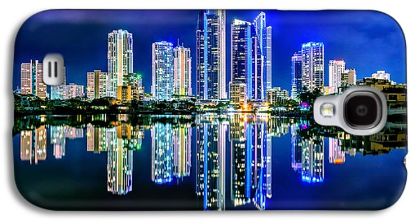 Light Galaxy S4 Cases - Gold Coast Reflections Galaxy S4 Case by Az Jackson