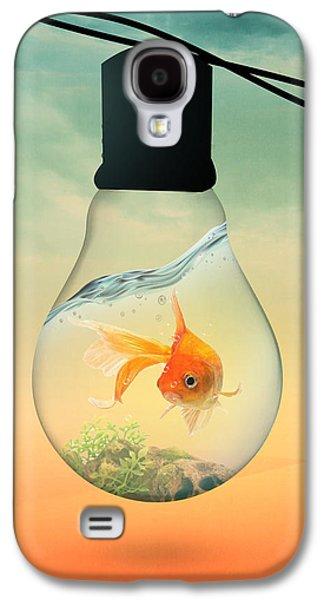 Shark Digital Galaxy S4 Cases - Gold Fish 4 Galaxy S4 Case by Mark Ashkenazi