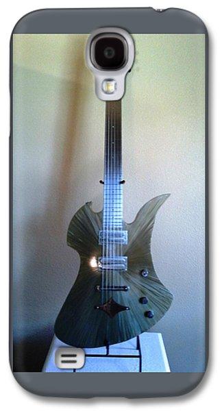 Celebrities Sculptures Galaxy S4 Cases - Gold Mockingbird Guitar Galaxy S4 Case by Jay Schaan