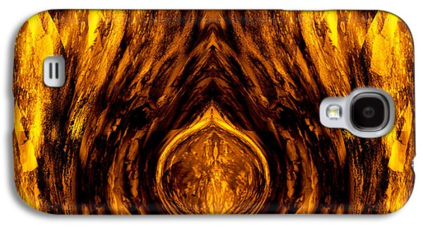 Abstract Digital Mixed Media Galaxy S4 Cases - Ancient Gold Relic Galaxy S4 Case by Stephen  Killeen