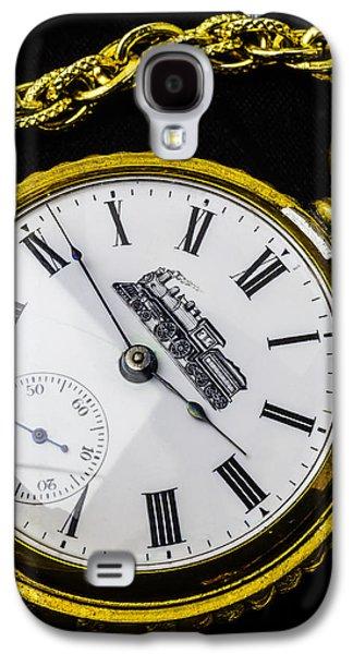 Gold Train Watch Galaxy S4 Case by Garry Gay