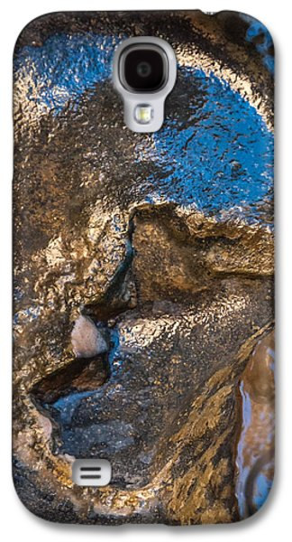 Modern Abstract Pyrography Galaxy S4 Cases - Golden Afterlife Galaxy S4 Case by Artist Jacquemo