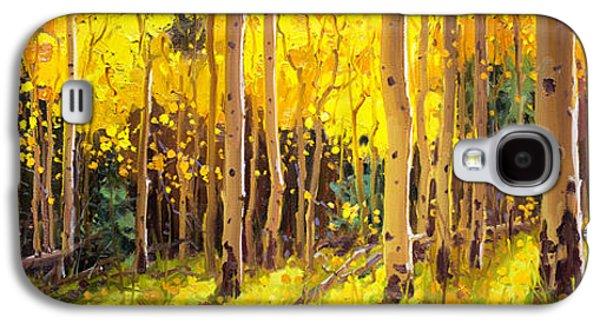 Golden Aspen In The Light Galaxy S4 Case by Gary Kim