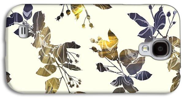 Golden Branches Galaxy S4 Case by Varpu Kronholm