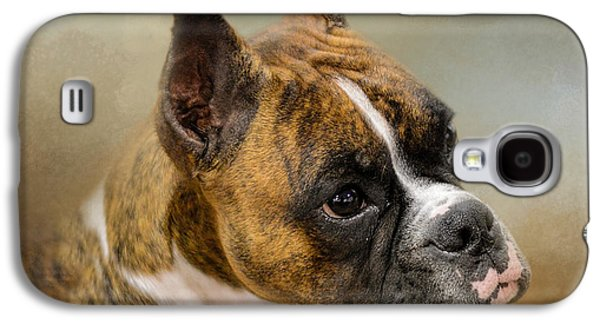 Boxer Galaxy S4 Cases - Golden Brindle Boxer Galaxy S4 Case by Jai Johnson