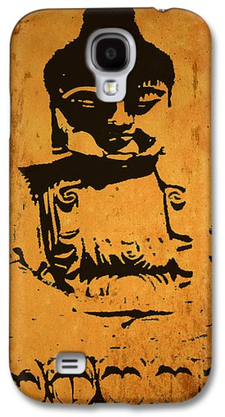 Statue Portrait Mixed Media Galaxy S4 Cases - Golden Buddha Galaxy S4 Case by Kandy Hurley