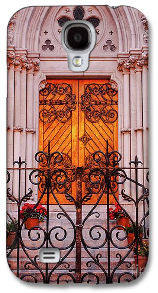 Golden Church Door Galaxy S4 Case by Lexa Harpell