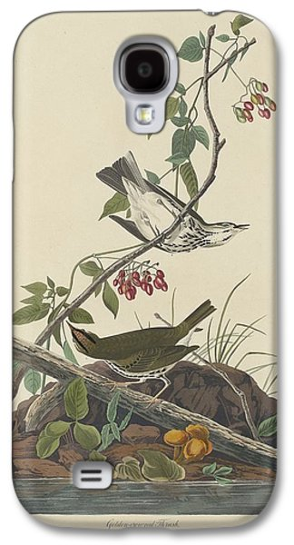 Golden-crowned Thrush Galaxy S4 Case by John James Audubon