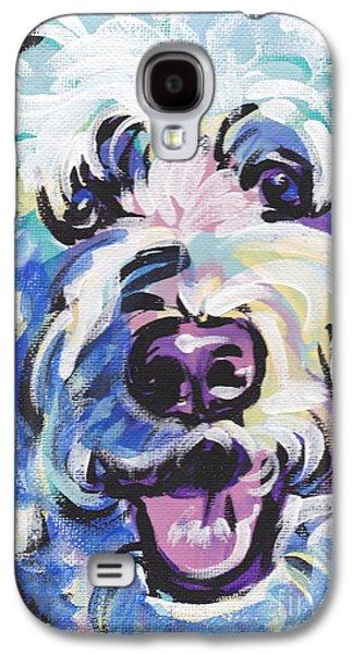 Golden Doodly Dee Galaxy S4 Case by Lea S