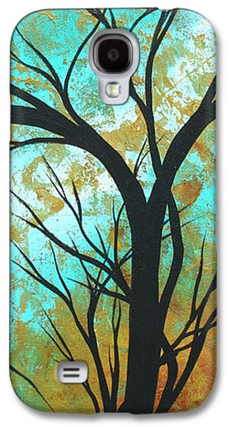 Abstract Landscape Galaxy S4 Cases - Golden Fascination 4 Galaxy S4 Case by Megan Duncanson