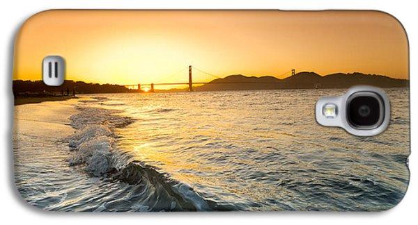 California Beach Art Galaxy S4 Cases - Golden Gate Curl Galaxy S4 Case by Sean Davey