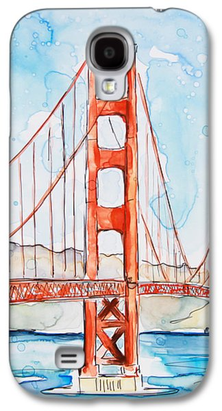 Golden Gate Galaxy S4 Case by Shaina Stinard