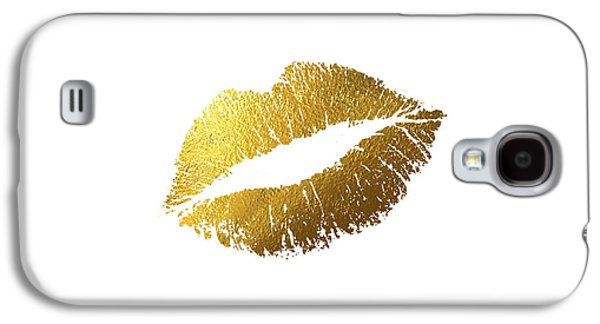 Gold Lips Galaxy S4 Case by Bekare Creative