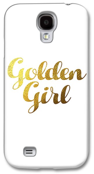 Golden Girl Typography Galaxy S4 Case by Bekare Creative
