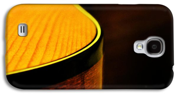 Guitar Galaxy S4 Cases - Golden Guitar Curve Galaxy S4 Case by Deborah Smith