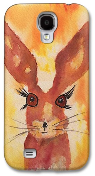 March Hare Galaxy S4 Cases - Golden Hare Galaxy S4 Case by Karen  Connolly